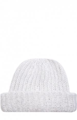 Вязаная шапка с отворотом Eugenia Kim. Цвет: белый