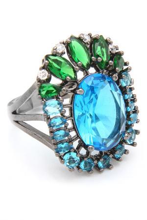 Кольцо Donna Lorena. Цвет: серебристый, голубой