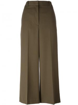 Укороченные широкие брюки 3.1 Phillip Lim. Цвет: зелёный