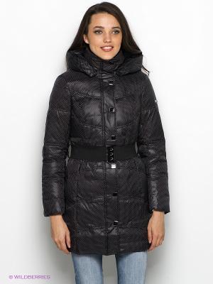 Пальто Finn Flare. Цвет: черный, белый