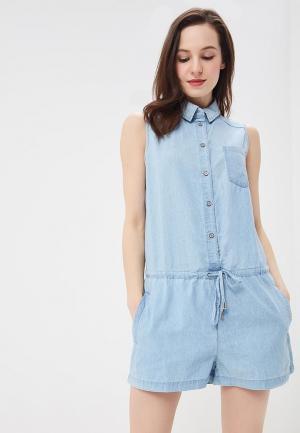 Комбинезон джинсовый Baon. Цвет: голубой