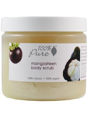 Органический скраб для тела  Мангостин 443 мл 100% Pure. Цвет: кремовый