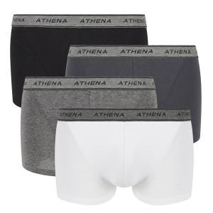 4 трусов-шортов ATHENA. Цвет: красный+черный+серый,черный + черный + черный + черный