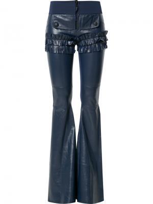 Frill flared trousers Andrea Bogosian. Цвет: синий