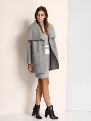 Пальто Troll. Цвет: серый
