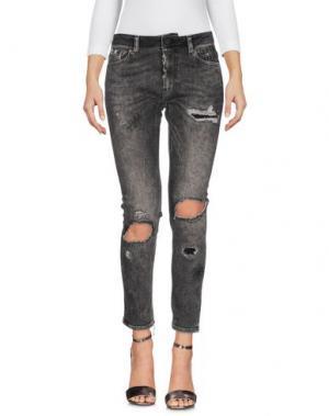 Джинсовые брюки PENCE. Цвет: серый