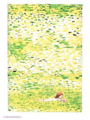 Обложка для паспорта Девочка в травке Mitya Veselkov. Цвет: светло-зеленый, желтый