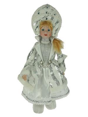 Фигурка интерьерная - кукла декоративная Снегурочка Русские подарки. Цвет: белый