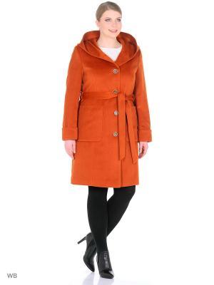 Пальто Style national. Цвет: рыжий