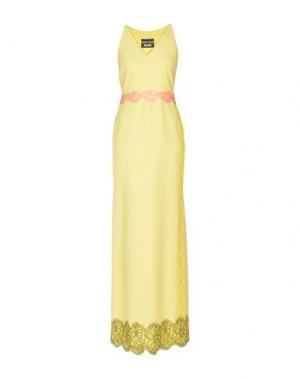 Длинное платье BOUTIQUE MOSCHINO. Цвет: желтый