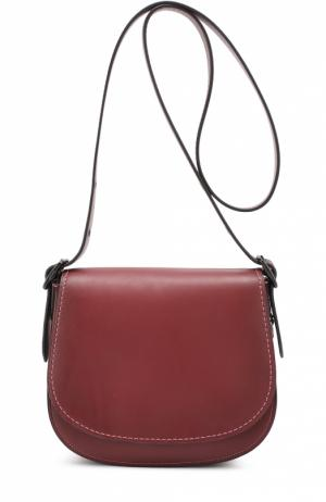 Сумка Saddle Bag 23 Coach. Цвет: бордовый