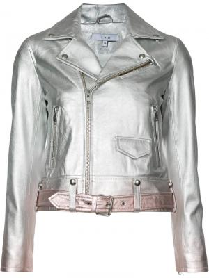 Байкерская куртка Iro. Цвет: металлический