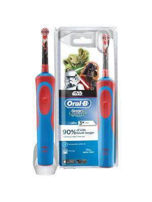 Braun Oral-B Stages Power D12K StarWars детская электрическая зубная щетка ORAL_B. Цвет: голубой, красный