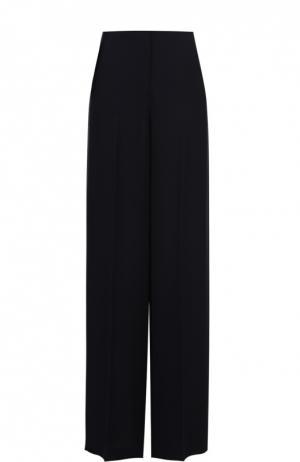 Шелковые широкие брюки со стрелками Theory. Цвет: темно-синий