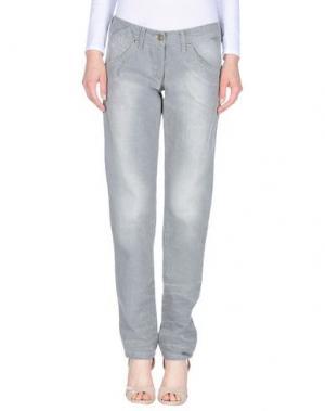 Джинсовые брюки EXTE. Цвет: светло-серый