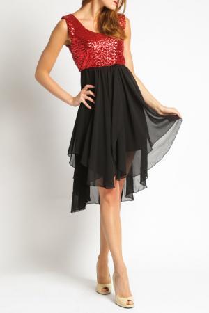 Платье Ironi. Цвет: red and black