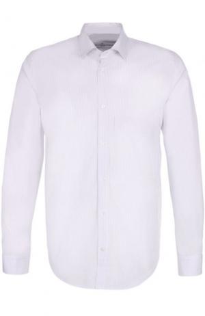 Хлопковая рубашка в полоску Golden Goose Deluxe Brand. Цвет: белый