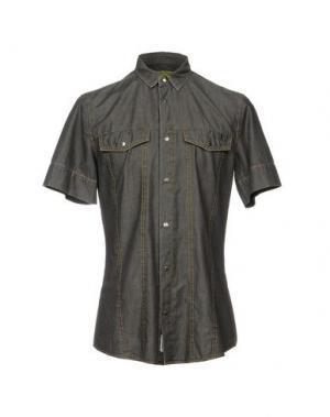 Джинсовая рубашка VERSACE JEANS. Цвет: серый