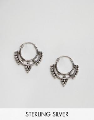 Fashionology Cерьги-кольца. Цвет: серебряный