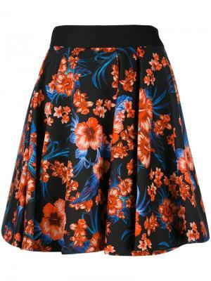 Пышная юбка с цветочным принтом Fausto Puglisi. Цвет: чёрный