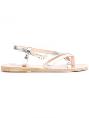 Сандалии Semele Ancient Greek Sandals. Цвет: металлический