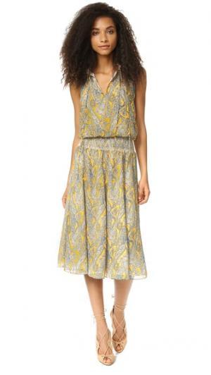 Платье со сборками на талии Twelfth St. by Cynthia Vincent. Цвет: цветочный принт, мульти