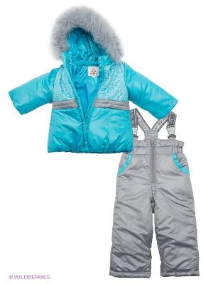 Комплект одежды Аксарт. Цвет: голубой, серый