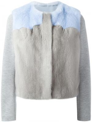 Куртка Azur с мехом норки Ines & Marechal. Цвет: серый