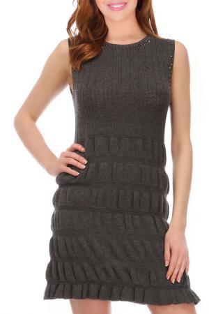 Платье Faust. Цвет: серый