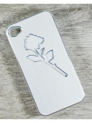 Чехол для телефона Apple iPhone 4/4s MACAR. Цвет: серебристый
