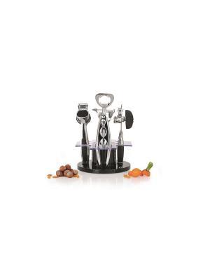 Набор принадлженостей для кухни и бара Orion 6 пр. BergHOFF. Цвет: черный, серебристый