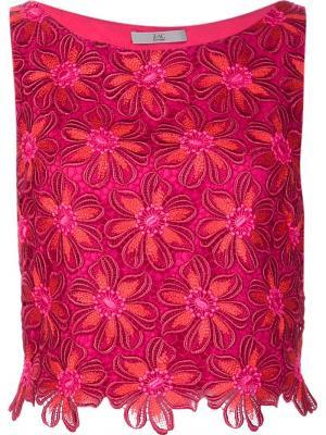 Блузка Joy Zac Posen. Цвет: розовый и фиолетовый