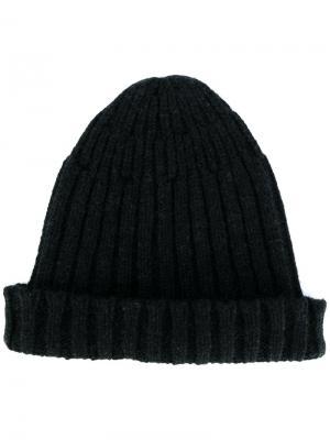 Классическая шапка Roberto Collina. Цвет: чёрный