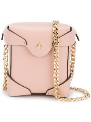 Микро сумка на плечо Pristine Manu Atelier. Цвет: розовый и фиолетовый