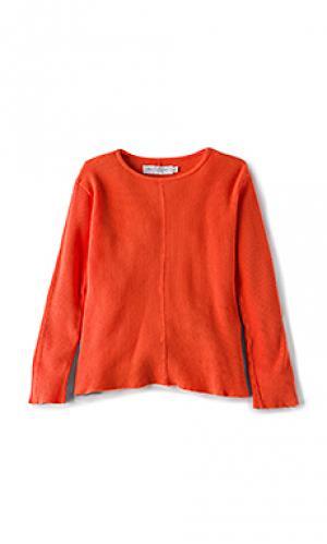 Теплый пуловер с длинным рукавом и круглым вырезом Daniel Patrick. Цвет: оранжевый