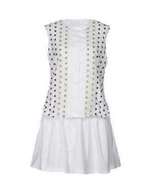 Короткое платье THAKOON ADDITION. Цвет: белый