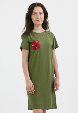 Платье Monoroom. Цвет: зеленый