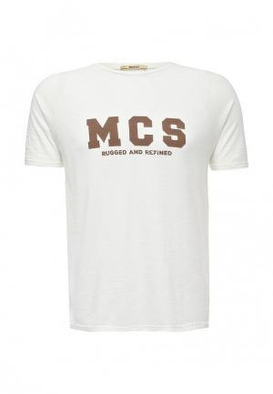 Футболка MCS. Цвет: белый