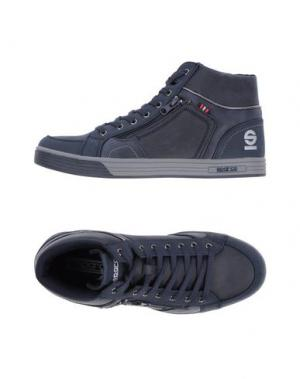 Высокие кеды и кроссовки SPARCO. Цвет: темно-синий