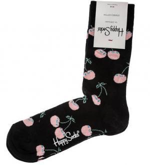 Черные хлопковые носки Happy Socks. Цвет: черный