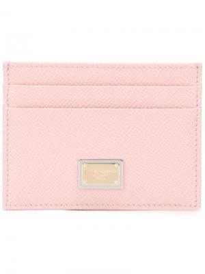 Визитница Dauphine Dolce & Gabbana. Цвет: розовый и фиолетовый
