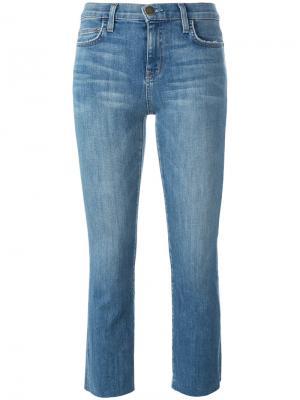 Укороченные джинсы скинни Current/Elliott. Цвет: синий
