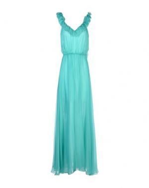 Длинное платье DANIELE CARLOTTA. Цвет: бирюзовый