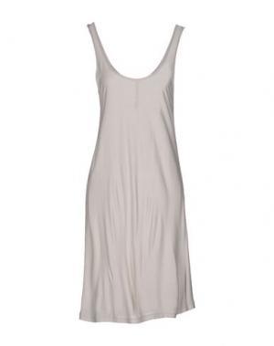 Короткое платье FIRST AID TO THE INJURED. Цвет: светло-серый