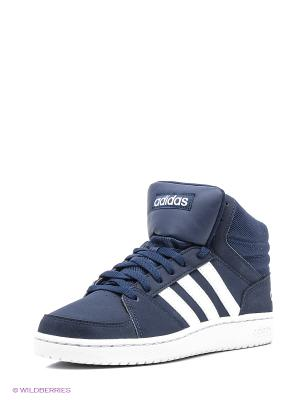 Кроссовки Vs Hoops Mid Adidas. Цвет: темно-синий