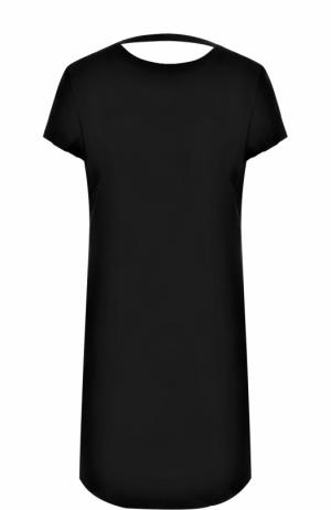 Приталенное мини-платье с открытой спиной Helmut Lang. Цвет: черный