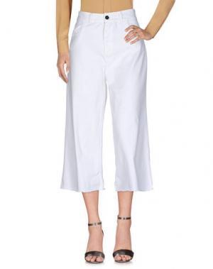 Повседневные брюки C.Y.H. CLAP YOUR HAND. Цвет: белый