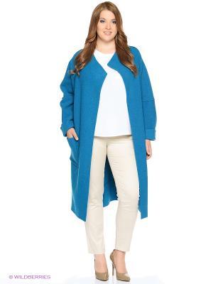 Пальто PARADOX. Цвет: голубой