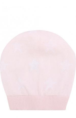 Хлопковая шапка с принтом Catya. Цвет: розовый
