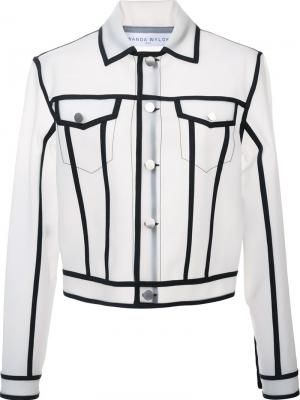 Пиджак Jacky Wanda Nylon. Цвет: белый